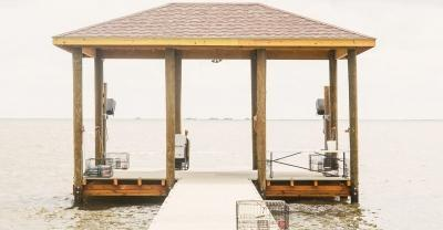 Custom dock after construction